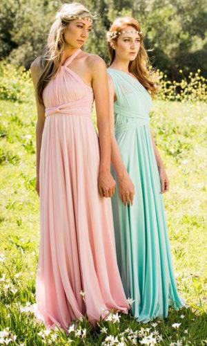 Elegant Mess Straps Infinity Dress